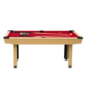 Billard 6ft bois clair et tapis rouge
