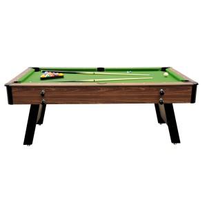 Billard pliable 6,7ft bois clair et tapis vert