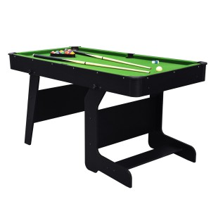 Billard pliable Junior 5ft noir et tapis vert