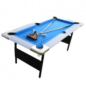 Billard pliable junior 6ft tapis bleu