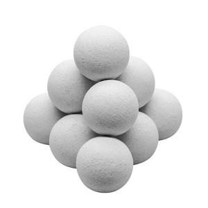 Set de 11 balles en liège blanches