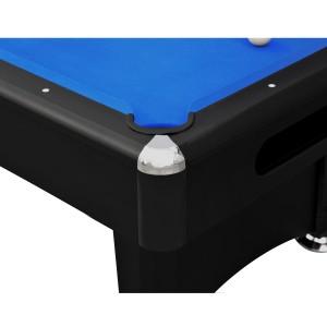 Billard 7,2ft noir et tapis bleu