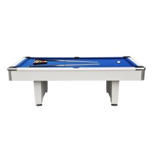 Billard 8,3ft blanc et tapis bleu