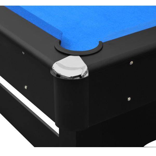 Billard 6 8ft noir et tapis bleu billards leblond loisirs Tapis noir et bleu