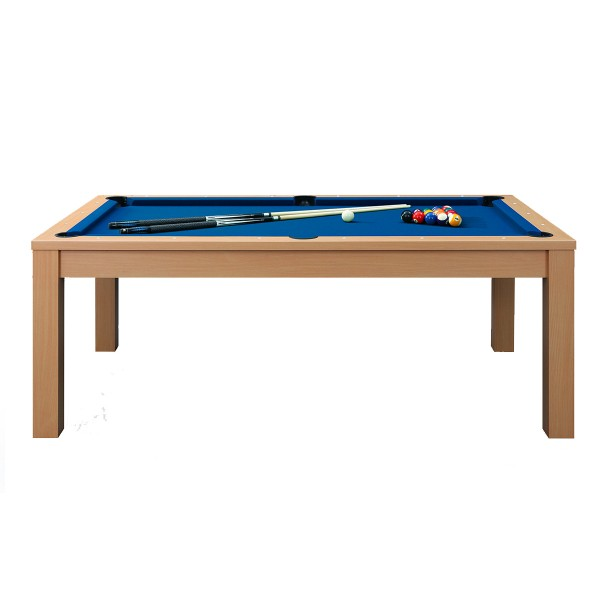 billard convertible 7ft bois clair et tapis bleu billards tables billards leblond loisirs. Black Bedroom Furniture Sets. Home Design Ideas