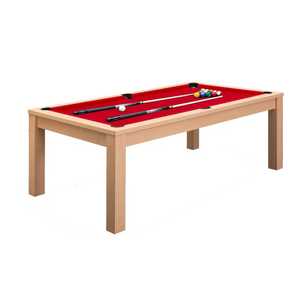 billard convertible 7ft bois clair et tapis rouge billards tables billards leblond loisirs. Black Bedroom Furniture Sets. Home Design Ideas