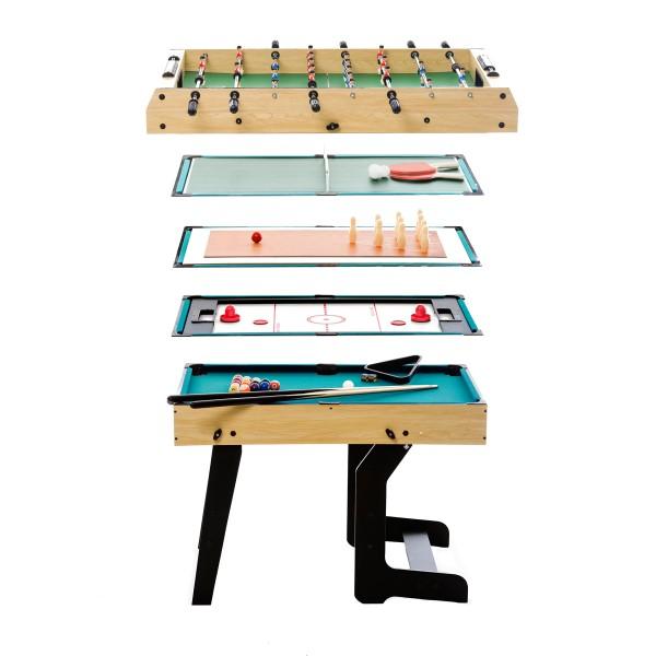 Table multi jeux pliable 16 en 1 multi jeux baby foot - Table multi jeux enfant ...